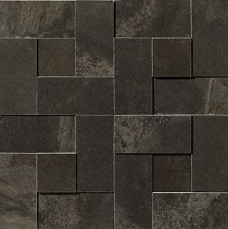 Apavisa Materia Black Natural Mosaico Brick