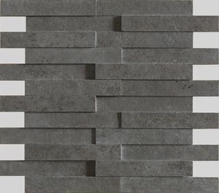 Apavisa Evolution Black Striato Mosaico Brick