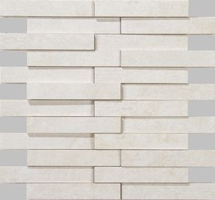 Apavisa Evolution White Striato Mosaico Brick