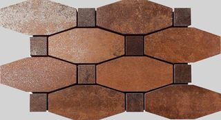 Apavisa Metal Copper Lappato Mosaico Blend