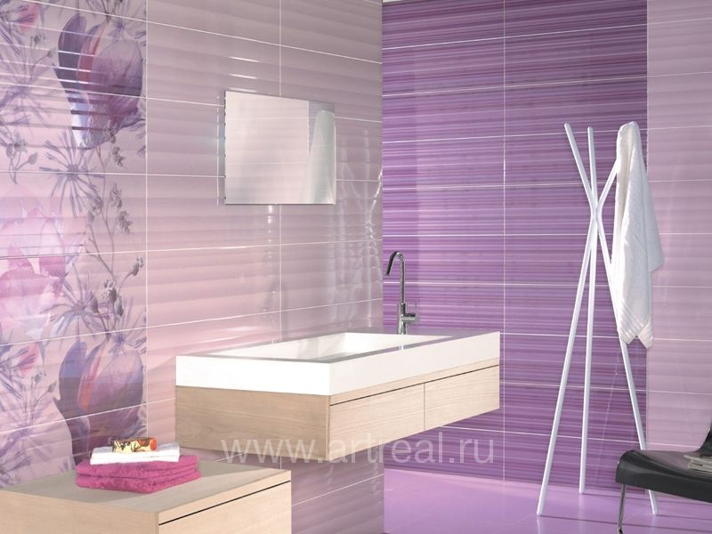 Grouting bathroom wall tile