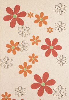 Aleluia Ceramicas Orion Decor Bege Flores 1