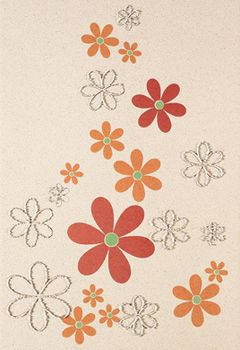 Aleluia Ceramicas Orion Decor Bege Flores 2