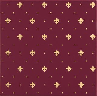 Petracers Grand Elegance gold Giglio Oro 24kt Su Bordeaux