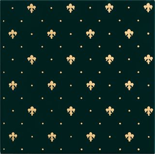 Petracers Grand Elegance gold настенная плитка Giglio Oro 24kt Su Verde 20*20