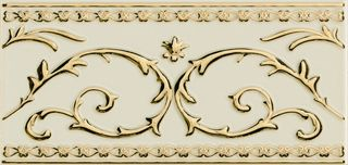 Petracers Grand Elegance gold бордюр Narciso-B Grande Oro 24kt Su Panna 20*10
