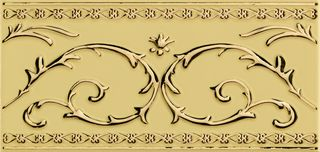 Petracers Grand Elegance gold бордюр Narciso-B Grande Oro 24kt Su Crema 20*10