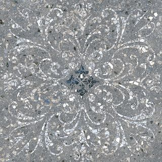 Kerama Marazzi Терраццо Terrazzo Dark Grey Decorateed Rectified