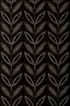 Rex Patterns Patterns Black Leaves