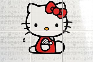 Gamma due Hello kitty Laundry Red CP A/6 PZ.