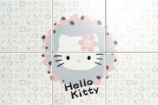 Gamma due Hello kitty панно Strawberry Grey CP A/6 60*40