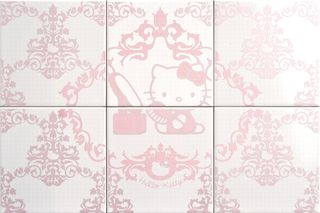 Gamma due Hello kitty панно Damask Beauty Pink CP A/6  60*40