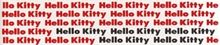 Gamma due Hello kitty Classic Reloaded List. Written Red