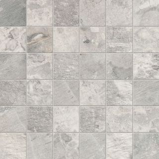 ABK Fossil Stone Mosaico Quadretti Light Grey