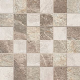 ABK Fossil Stone Mosaico Quadretti Mix Cream/Beige/Brown