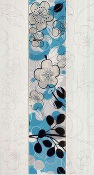 Fanal Flowers декор Decorado flowers azul 32*60