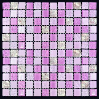 Natural Mosaic Mix Glass & Stone M4CTB63