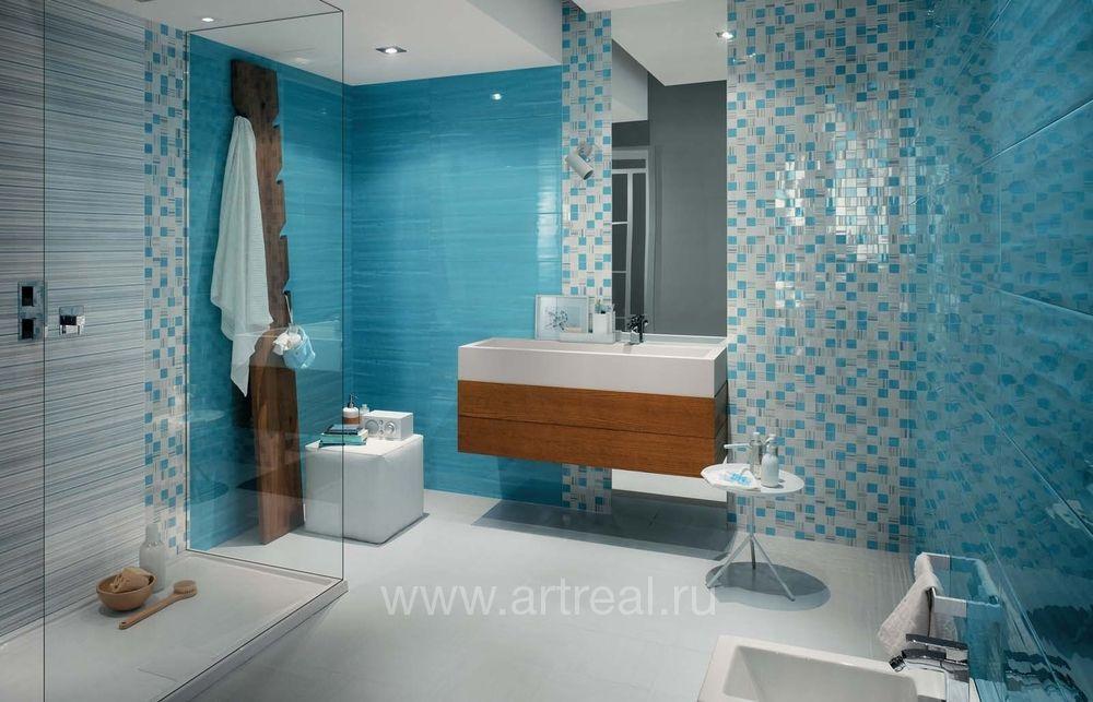 голубая плитка мозаика для ванной комнаты фото дизайн