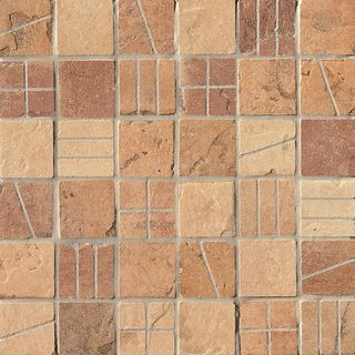 Cir & Serenissima Quarry Stone Mosaico Mix Vintage Light Tessera (Amber, Sand, Terra)