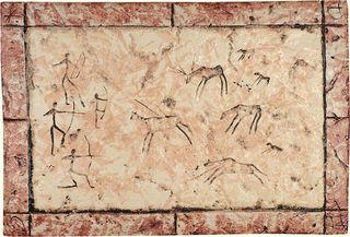 Cir & Serenissima Quarry Stone Formella Graffiti Corallo