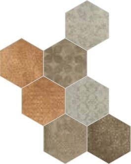 Cir & Serenissima Riabita Il Cotto Fabric Esagona Mix Natural (Classic, Feng Shui, Minimal, Natural)