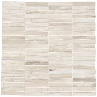 Emil Ceramica Petrified Tree Mosaico Wall White