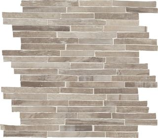 Emil Ceramica Petrified Tree Mosaico Brick Grey