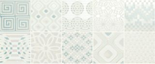 Novabell Milady MLW D77K Decor Preinciso Patchwork White/Mint