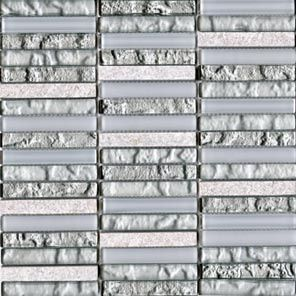 L'antic Colonial Mosaico мозаика Tecno Linear Silver White 1,5x9,7 29.8*30.5