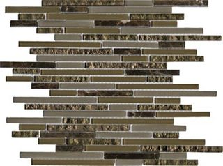 L'antic Colonial Mosaico мозаика Eternity Mini Strip Emperador 29.8*30.5