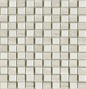 L'antic Colonial Mosaico мозаика Time Text Silver Wood 2,3x2,7 28.5*29.5