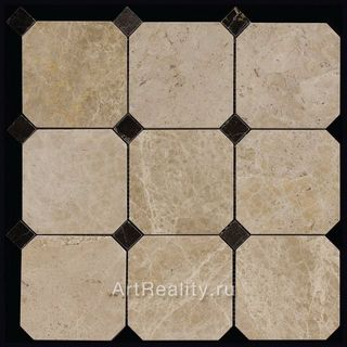 Natural Mosaic Octagon 1 (Мрамор) мозаика M036-M076BP 305*305