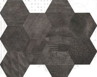 Cir & Serenissima Docklands Hexagon Freeport Mix Black