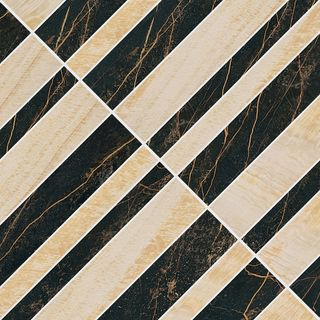 Gardenia (Versace) Marble мозаика Mosaico Optical Nero-Oro 240520 58.5*58.5