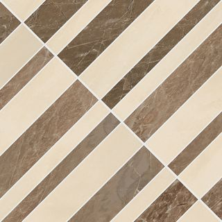 Gardenia (Versace) Marble мозаика Mosaico Optical Marrone-Beige 240522 58.5*58.5
