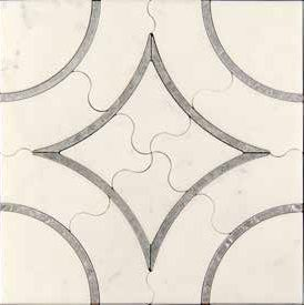 Scalini Metal Stone Alcamo (White)-1/2  (ACM (W)-1/2)