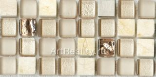 Bars Crystal Mosaic Миксы с металлом мозаика HSO 191 30*30