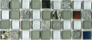 Bars Crystal Mosaic Миксы с металлом мозаика GHT 48 30*30