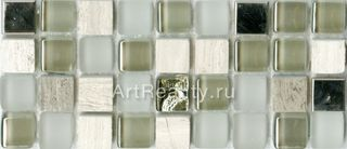 Bars Crystal Mosaic Миксы с металлом мозаика HSO 194 30*30
