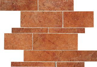 ABK Petraia мозаика Mosaico Brick Mix Cotto 1 33.3*33.3