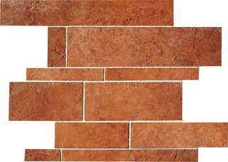 ABK Petraia мозаика Mosaico Brick Mix Cotto 2 33.3*33.3