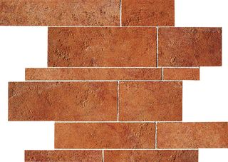 ABK Petraia мозаика Mosaico Brick Mix Cotto 3 33.3*33.3