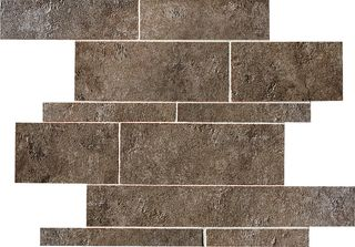 ABK Petraia мозаика Mosaico Brick Mix Nero 1 33.3*33.3