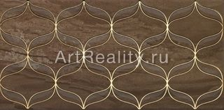 Vitra Ethereal Gold Geometric Decor Brown Parlak Glossy