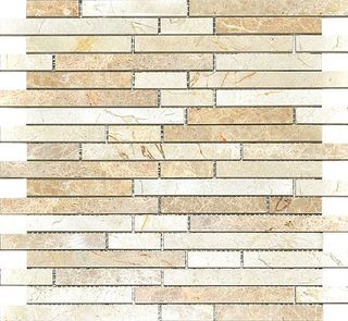 Colori Viva Natural Stone Natural Stone Strips Mix. Polished Light Emperador+Crema Marfil