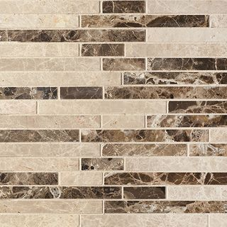 Colori Viva Natural Stone Natural Stone Strips Mix. Polished Light Emperador+Dark Emperador