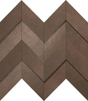 Декор Brown Leather Chevron 3D 30.8*35.1